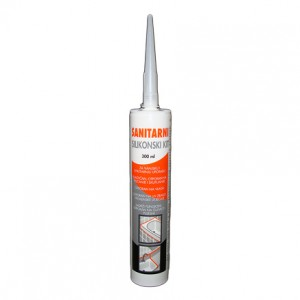 Sanitarni silikonski kit 300 ml